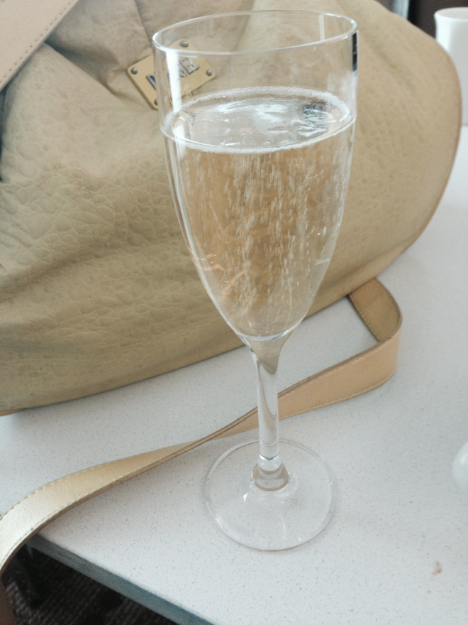 champagne in lounge